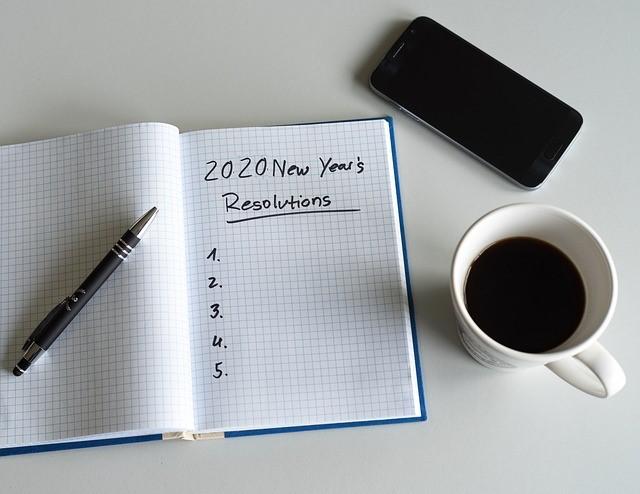 Buoni propositi anno nuovo